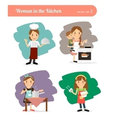 Woman in the Kitchen vector