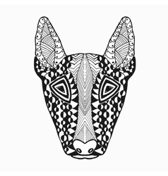 Zentangle stylized bullterier Sketch for tattoo vector image