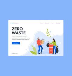 Zero waste landing page e-waste bin vector