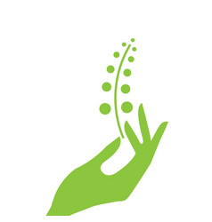 hand and plant eco vector image vector image
