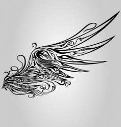 ornamental wing vector image