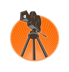 vintage 35mm motion picture camera retro vector image vector image
