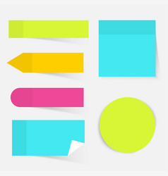 a colored set of sticky notes flat design modern vector image