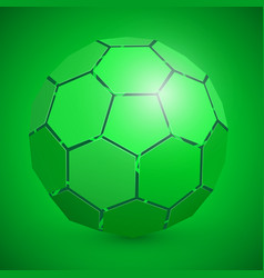 abstract soccer 3d ball green vector image