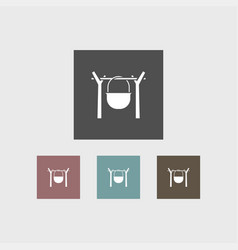 campfire icon simple vector image