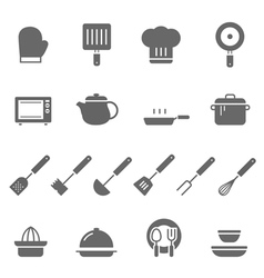 Icon set - kitchenware vector image vector image