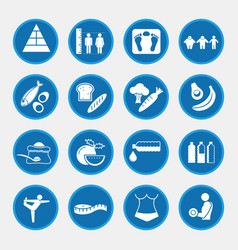 icon set of obesity related diseases and vector image vector image