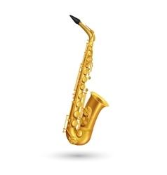 Golden Saxophone vector image