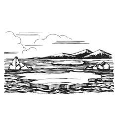iceberg sketch hand-drawn cartoon vector image vector image