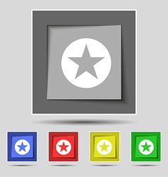 Star Favorite icon sign on the original five vector image vector image