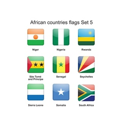 African countries flags set 5 vector image