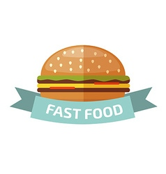 Fast food logo vector image