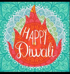 happy diwali celebration banner vector image vector image