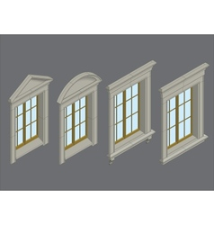 isomentic windows set vector image vector image
