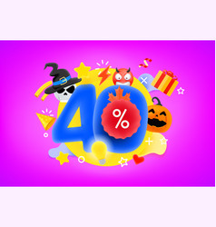 40 percent shopping discount concept 3d style cute vector