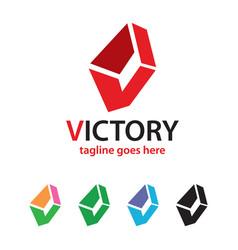 Abstract letter v logo template design vector