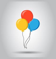 air balloon flat icon birthday baloon on white vector image