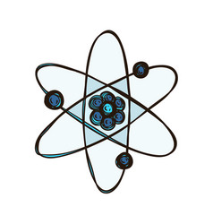 Atom isolated biology science atomic model vector