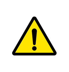 attention sign or warning caution exclamation vector image