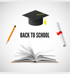 back to school banner education and knowledge vector image