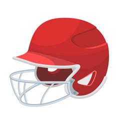 Baseball helmet baseball single icon in cartoon vector
