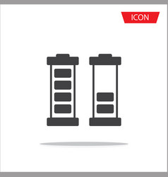 battery icon isolated on white background vector image