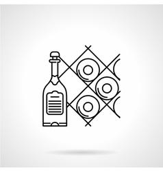 Black line icon for wine vector