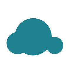 Blue cloud icon vector