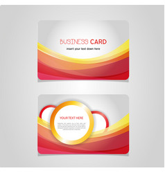 business card identity corporate template vector image