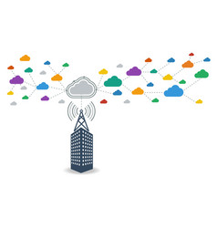 business connecting to cloud computing data vector image