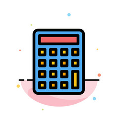 Calculator calculate education abstract flat vector