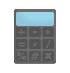 Calculator with operation signs icon image vector