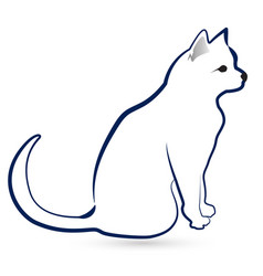 Cat silhouette icon design vector