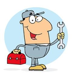Caucasian Plumber Man vector image