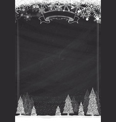 Classic blackboard winter christmas background vector