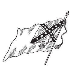 Confederate national flag - no 2 vintage vector