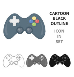 Controller cartoon icon for web and vector