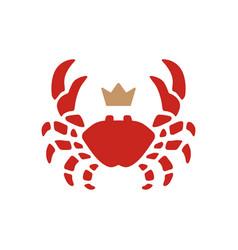 crab king seafood logo icon vector image