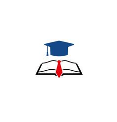 creative hat graduation logo vector image