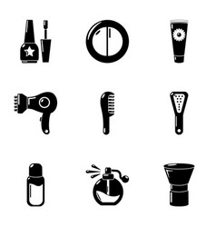 dermal icons set simple style vector image