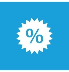 Discount label icon white vector