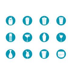 drinks beverage glass cups bottle alcoholic liquor vector image