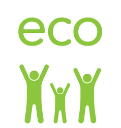 eco family vector image