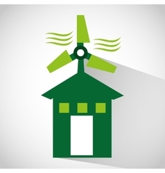 Ecological alternative energy green vector