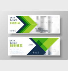 elegant green business presentation banner design vector image