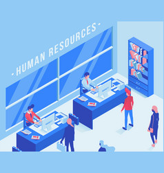 employment service office isometric vector image