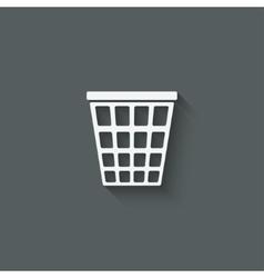 Empty trash basket vector