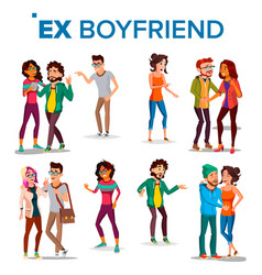 Ex boyfriend girlfriend past relationship vector