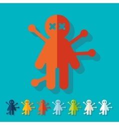 Flat design voodoo Doll vector image
