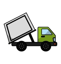 garbage truck isolated icon vector image